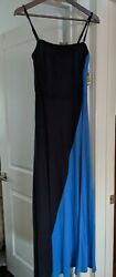 INC dress trendy maxi blue colorblock size medium brand new w tags $89 $38.99