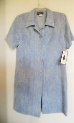 Wonky Gray Blue Summer Dress Size M $10.79