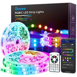 Govee RGBIC LED Strip Lights 32.8FT Bluetooth Color Picking LED Lights with App