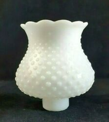Replacement Shade Globe White Milk Glass Hobnail 5.5quot; Tall 1.5quot; Fitter Chandlier $5.95