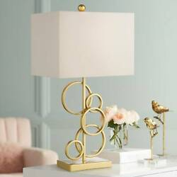 Modern Table Lamp Gold Brass Rings Living Room Bedroom House Bedside Nightstand $59.95