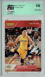 Lonzo Ball 2017 Panini NBA Tip Off Only 895 Made Rookie Card PGI 10