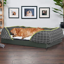 Super Large Orthopedic Dog Bed Sofa Style Chaise Lounger Spine Supportiv Bolster $22.99