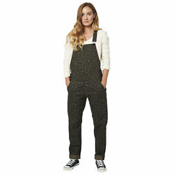 Fox Racing Womens Flat Track Overalls Casual Pants 100% Cotton Canvas Dirt Small $77.95