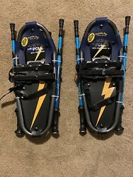 Thunder Bay Outdoor Gear 17 x 7 kids Snowshoes Blue black Lightening Poles $65.00