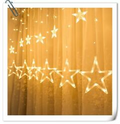 Twinkle Star 12 Stars 138 LED Curtain String Lights with 8 Flashing Modes $16.99
