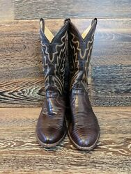 Justin#x27;s Cowboy Boots size 10 High Brehm Vintage 1991 Style 8308 $49.99