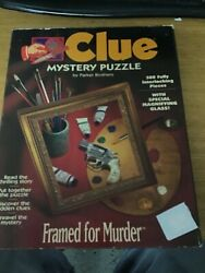 Clue Mystery Puzzle Framed for Murder 500 piece Jigsaw Puzzle 1995 Complete $14.99