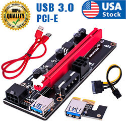 Ethereum PCI E 1x to 16x Powered USB3.0 GPU Riser Extender Adapter Card VER 009s $29.98