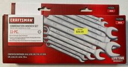 CRAFTSMAN 11 pc COMBINATION WRENCH SET 9 47004 SAE NEW $39.00