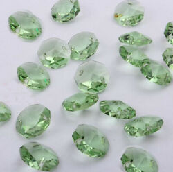 20pcs 14mm green Crystal Octagonal beads Decoration Crystal chandelier parts #1 $2.00