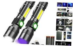 UV Flashlight Rechargeable Magnetic Flashlight with Blacklight 3 in 1 2 $37.32