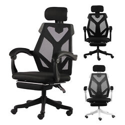 Swivel Gaming Office Chair High back Adjustment Ergonomic Recliner Footrest Pad $89.99