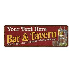 Personalized Red Bar amp; Tavern Metal Sign Custom Decor Home Bar Gift 106180002001 $50.95