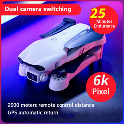 2021 New 6K HD F10 Dual Camera w GPS 5G WIFI FPV Real Time Transmission Drone $99.78