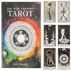 78pcs Tarot Deck Oracle Cards The Wild Unknown Rider Waite Future Fate Telling $11.98
