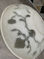 Antique Lamp Shade Embossed Floral 16 Inches Beautiful Condition $45.00