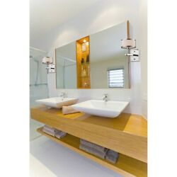 Drum Shades with Accent Rings Three Light Bath Vanity with Rectangular $156.67