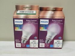 2 Boxes Philips Light Bulb LED A21 Dimmable Color Changing Light 60 Watt Equi
