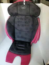 Evenflo Chase Booster Black Pink Car Seat Cover Cushion Fabric Replacement Pad $18.00