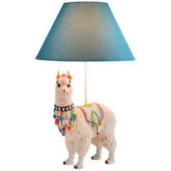 LLAMA TABLE LAMP Ivory Novelty Sculpture Statue Art Home Office Decor Accent New $207.99