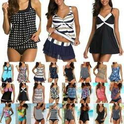 Plus Size Ladies Bikini Set Tankini Swimwear Swimsuit Summer Beach Bathing Dress $15.57