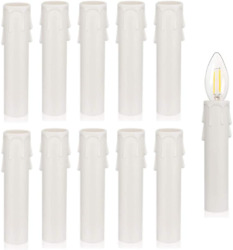 12Pcs 4quot;Tall Candle Socket Covers Chandelier Candle Sleeves Parts White Candle $12.49