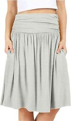 Grey Skirts for Women Reg and Plus Size Skirts a Line Knee H. Grey Size 4.0 fk $9.99