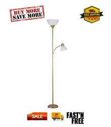 72#x27;#x27; Combo Floor Lamp with Adjustable Reading Lamp Multi color Metal $17.99