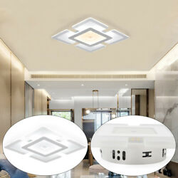 Modern Acrylic LED Ceiling Light Square Shape Fixture Indoor Ceiling Bedroom 15W $20.46