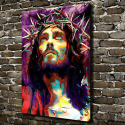 Graffiti Jesus Christian Canvas Print Framed Wall Art Many Size $115.00