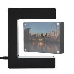 Electronic Led Magnetic Levitation Photo Frame Floating Novelty For Home Decor $47.99