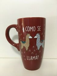 Sheffield Home quot;Como Se Llamaquot; Red Tall Coffee Mug Novelty Animals $7.00