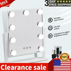 30cm Makeup Mirror 15LED Light Dimmable Rectangle Touch Switch Bedroom Plug $57.99