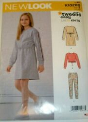 New Look Sewing Pattern 6649 Girls Tweens Teen Dresses Tops Leggings 8 16 UC