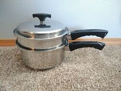Kitchen Craft by West Bend 3qt Sauce Pan Steamer amp; Lid Stainless Bin 15 $48.98