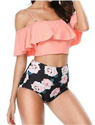 Airose Bikini for Teens High Waisted Swimsuits Girls Bathing Black Size Small $12.85