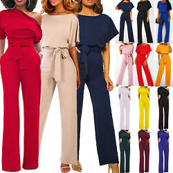 Womens Casual Wide Leg Jumpsuit Ladies Romper Loose Evening Party Long Playsuit $24.31