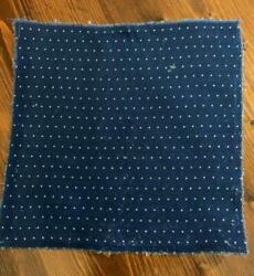 Antique Fabric 19thc Indigo Blue Small Dot Calico Quilt Doll 7.75quot;x7.75 4 avail $7.99