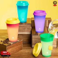 Manna Hot Color Changing To Go Cups 12 pack Reusable w Lids $10.99