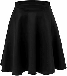 Red Skirts for Women Reg and Plus Size Red Skirt Red Skater Black Size Medium $9.99