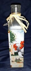 Rooster Kitchen Decor Bottle 8quot; Roosters Bottles $7.99