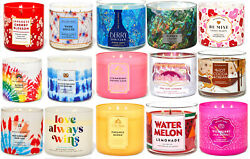 Bath amp; Body Works 3 Wick Candles New 85 Fresh Scents To Choose From $16.25