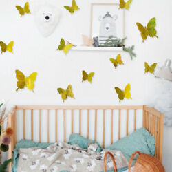 12 Pcs PVC 3D Simulation Flash Butterfly Wall Stickers for Kitchen Room Decals $2.99