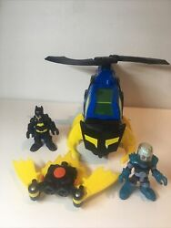 Fisher Price Imaginext DC Super Friends Batman Helicopter Batcopter Figure $23.00