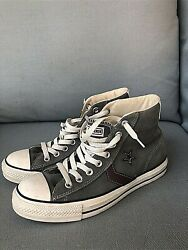 Converse All Star Mens Suede Leather Green High Tops Size 9 Sneakers $25.00