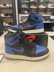 Nike 2017 Air Jordan 1 Retro OG High BG Royals Royal 575441 007 Size Sz 7Y