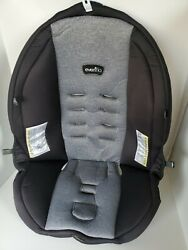 Evenflo Litemax 35 Baby Car Seat Cover Pad Fabric Replacement Gray amp; Black. $25.00