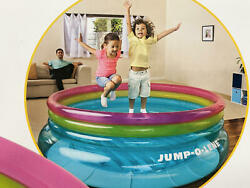 Intex Inflatable 80quot; Jump O Lene Ring Bouncer for Kids Ages 3 6 Indoor Outdoor $39.99