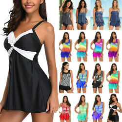 Ladies Summer Bikini Sets Boy Shorts Bathing Dress Swimsuit Beachwear Swimwear $18.99